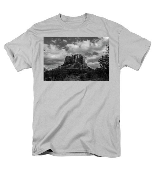 Men's T-Shirt  (Regular Fit) featuring the photograph Red Rocks Sedona Bnw 1 by David Haskett