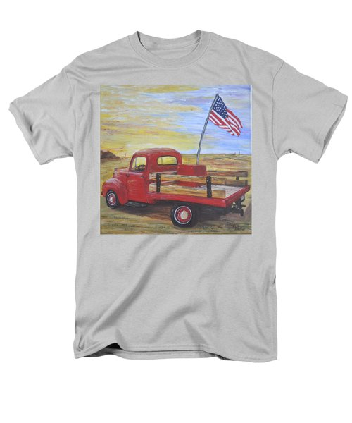 Red Truck Men's T-Shirt  (Regular Fit) by Debbie Baker