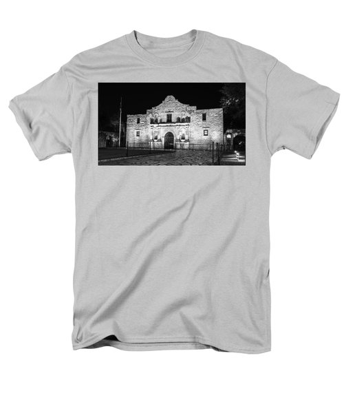 Remembering The Alamo - Black And White Men's T-Shirt  (Regular Fit) by Stephen Stookey
