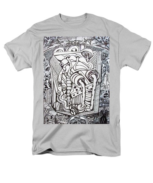 Men's T-Shirt  (Regular Fit) featuring the drawing Rest In Peace Eternally - Marie Kalfala - Sierra Leone by Mudiama Kammoh