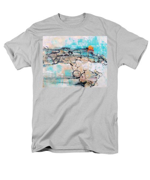 Men's T-Shirt  (Regular Fit) featuring the painting Retreat by Mary Schiros