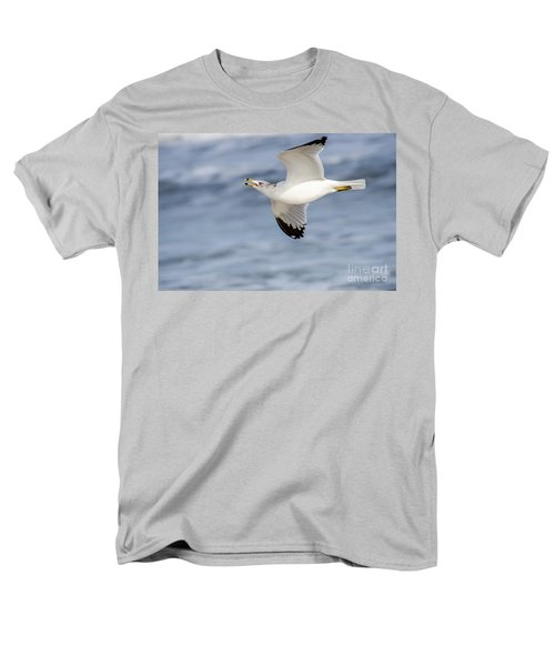 Ring-billed Seagull Looking For Attention Men's T-Shirt  (Regular Fit) by Debra Martz