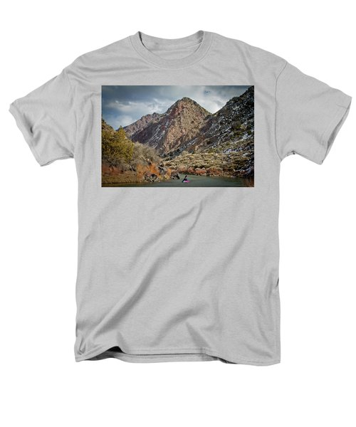 Men's T-Shirt  (Regular Fit) featuring the photograph Rio Grande Racecourse In Winter by Atom Crawford