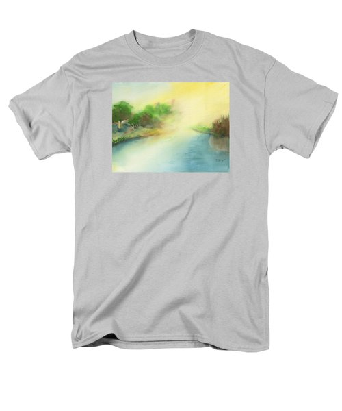 River Morning Men's T-Shirt  (Regular Fit) by Frank Bright