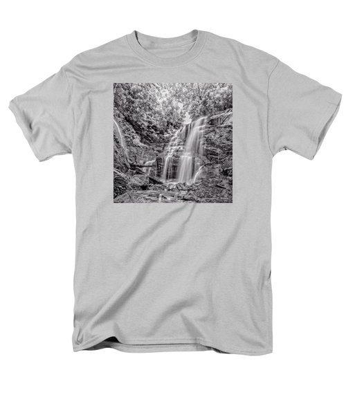 Men's T-Shirt  (Regular Fit) featuring the photograph Rocky Falls - Bw by Christopher Holmes