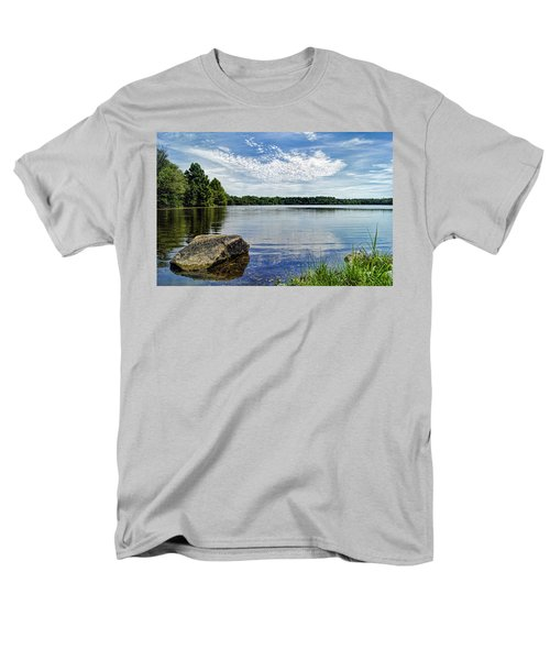 Rocky Fork Lake Men's T-Shirt  (Regular Fit) by Cricket Hackmann