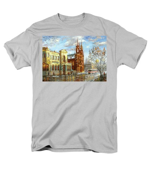 Men's T-Shirt  (Regular Fit) featuring the painting Roman Catholic Church by Dmitry Spiros