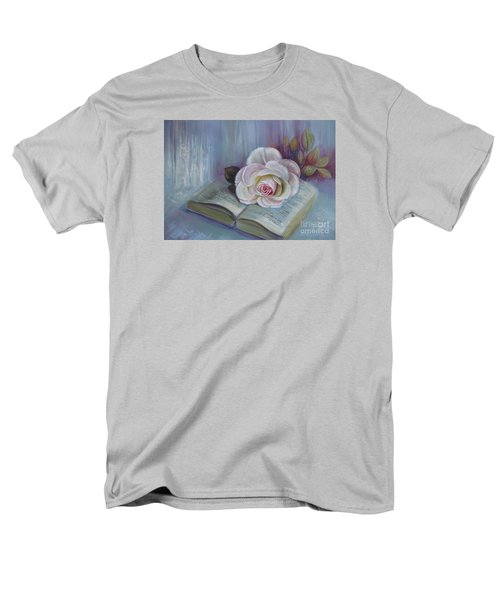 Men's T-Shirt  (Regular Fit) featuring the painting Romantic Story by Elena Oleniuc