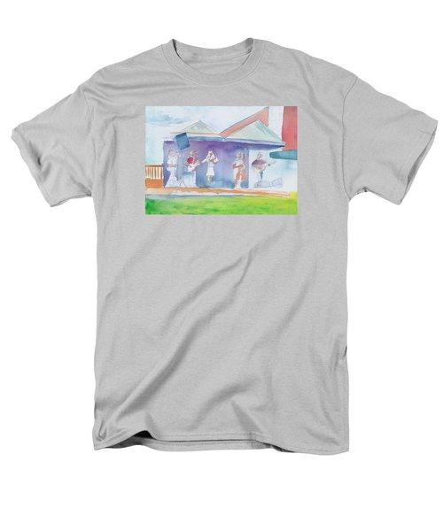 Roots Retreat Bluegrass Men's T-Shirt  (Regular Fit) by David Sockrider