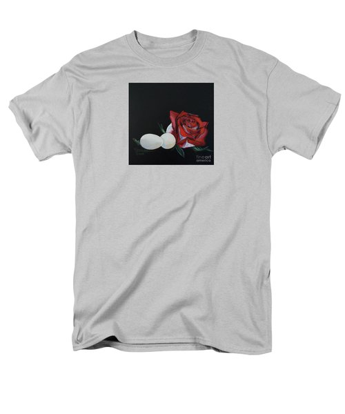 Rose And The Eggs Acrylic Painting Men's T-Shirt  (Regular Fit) by Shelley Overton