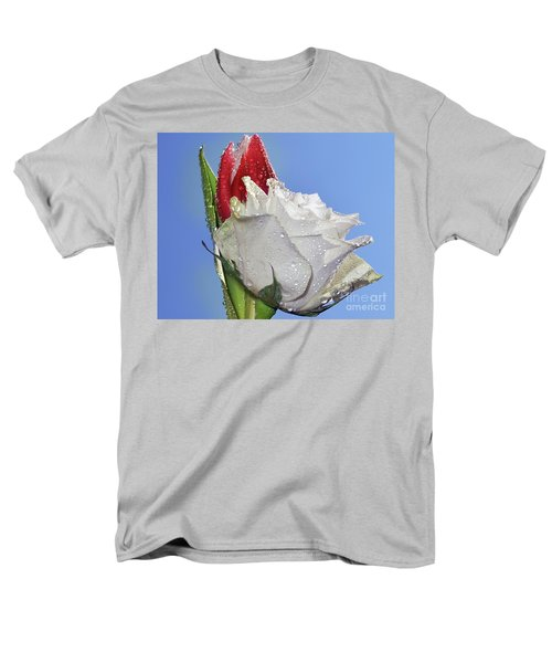 Men's T-Shirt  (Regular Fit) featuring the photograph Rose And Tulip by Elvira Ladocki