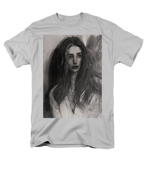Men's T-Shirt  (Regular Fit) featuring the painting Rosie Huntington-whiteley by Jarko Aka Lui Grande