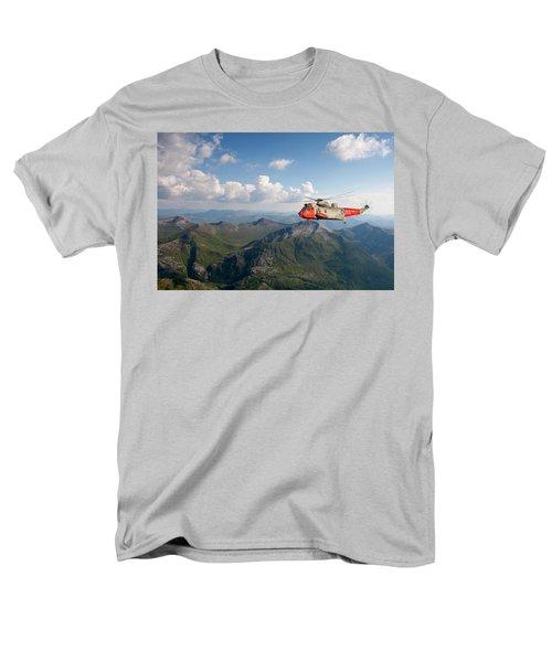 Men's T-Shirt  (Regular Fit) featuring the digital art Royal Navy Sar Sea King by Pat Speirs