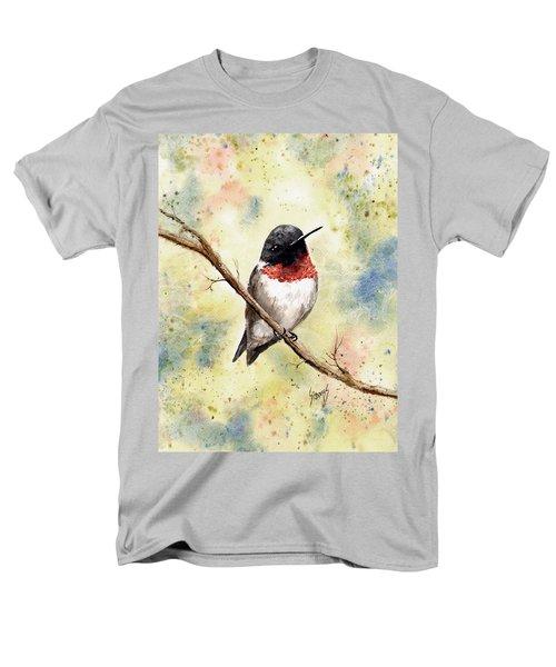 Ruby Throated Hummingbird Men's T-Shirt  (Regular Fit)