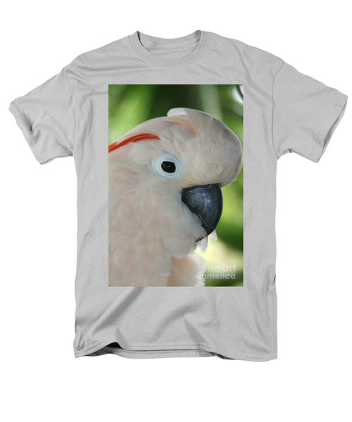 Salmon Crested Moluccan Cockatoo Men's T-Shirt  (Regular Fit) by Sharon Mau