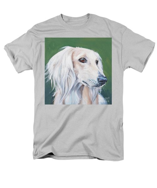 Men's T-Shirt  (Regular Fit) featuring the painting Saluki Sighthound by Lee Ann Shepard