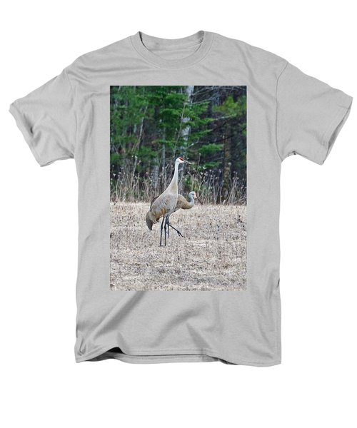 Men's T-Shirt  (Regular Fit) featuring the photograph Sandhill Cranes 1166 by Michael Peychich