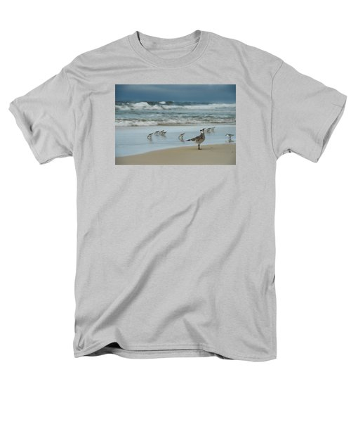Men's T-Shirt  (Regular Fit) featuring the photograph Sandpiper Beach by Renee Hardison