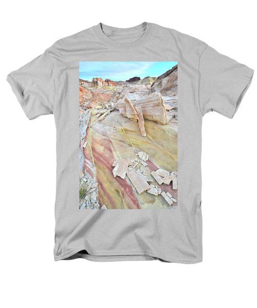 Sandstone Rainbow In Valley Of Fire Men's T-Shirt  (Regular Fit) by Ray Mathis