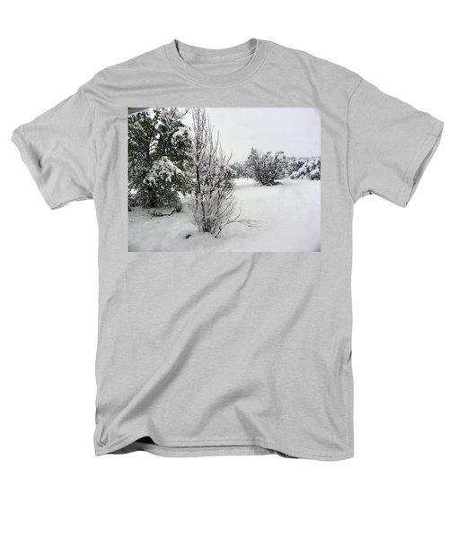 Santa Fe Snowstorm 2017 Men's T-Shirt  (Regular Fit) by Joseph Frank Baraba