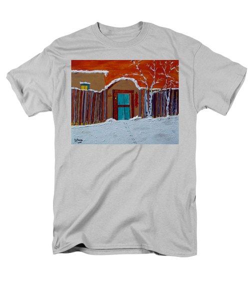 Men's T-Shirt  (Regular Fit) featuring the photograph Santa Fe Snowstorm by Joseph Frank Baraba