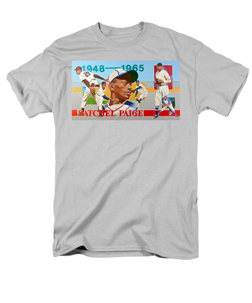 Men's T-Shirt  (Regular Fit) featuring the painting Satchel Paige by Cliff Spohn