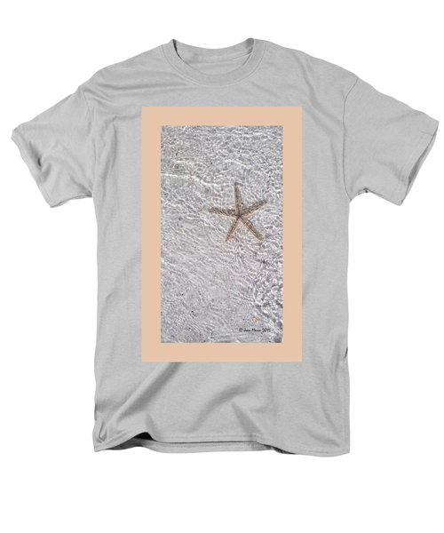 Men's T-Shirt  (Regular Fit) featuring the photograph Sea Star 11 Anna Maria Island by Jean Marie Maggi
