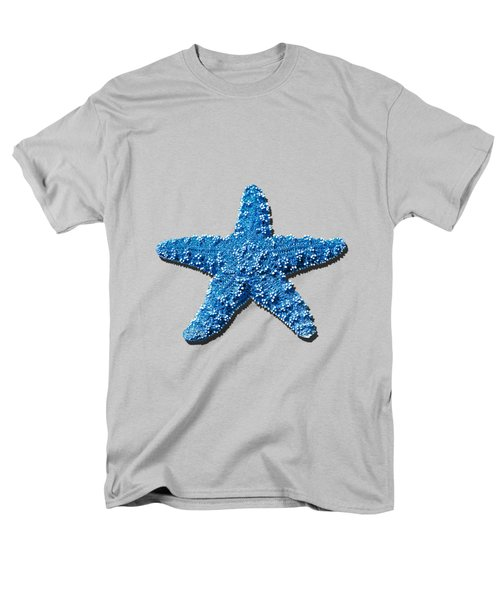 Sea Star Medium Blue .png Men's T-Shirt  (Regular Fit) by Al Powell Photography USA