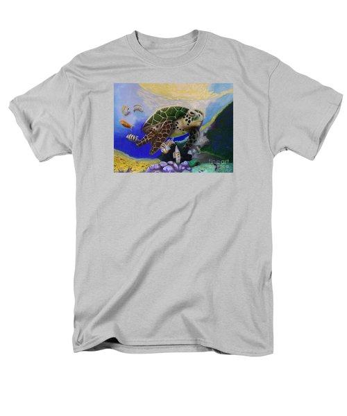 Sea Turtle Acrylic Painting Men's T-Shirt  (Regular Fit)