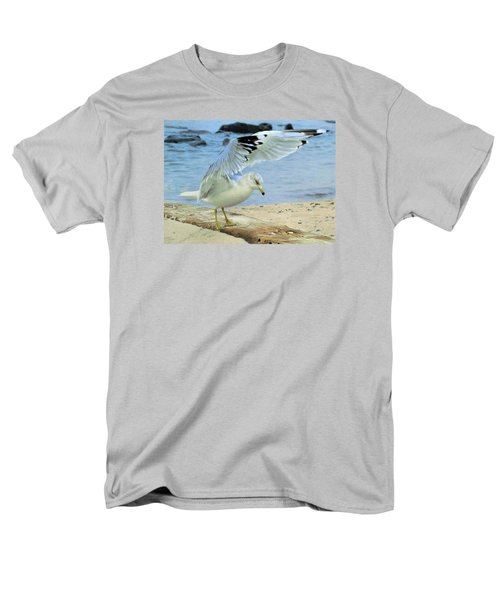 Men's T-Shirt  (Regular Fit) featuring the photograph Seagull On The Beach by Nina Bradica