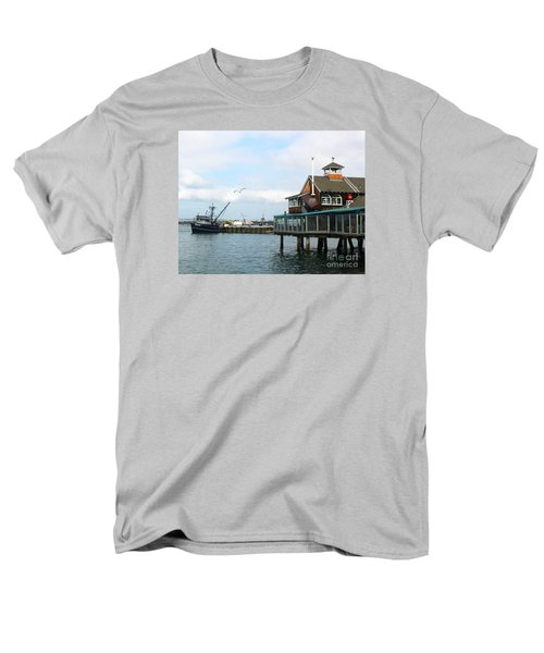 Men's T-Shirt  (Regular Fit) featuring the photograph Seaport Village San Diego-2 by Cheryl Del Toro