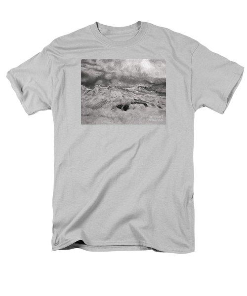 Men's T-Shirt  (Regular Fit) featuring the drawing Seascape In Graphite by John Stuart Webbstock