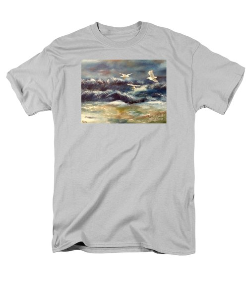 Men's T-Shirt  (Regular Fit) featuring the painting Seaside Serenade by Denise Tomasura