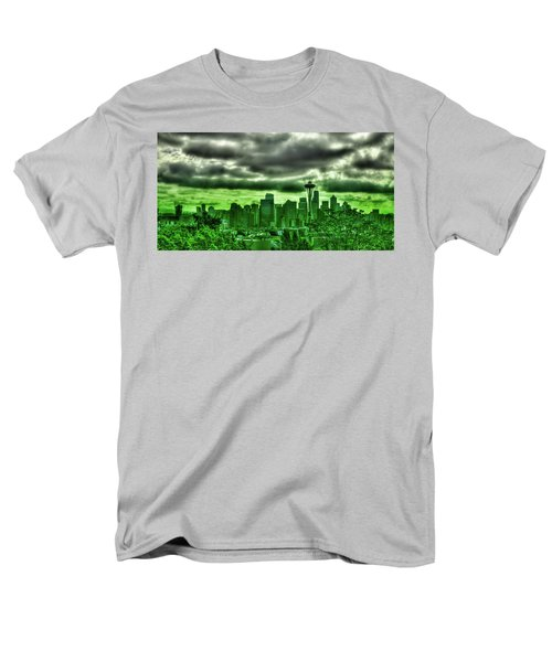 Seattle - The Emerald City Panorama Men's T-Shirt  (Regular Fit) by David Patterson