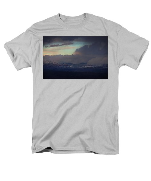 Sedona At Sunset With Red Rock Snow Men's T-Shirt  (Regular Fit) by Ron Chilston