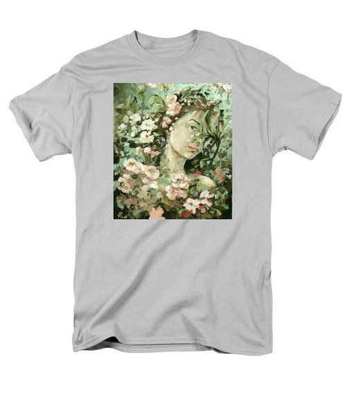 Self Portrait With Aplle Flowers Men's T-Shirt  (Regular Fit) by Vali Irina Ciobanu