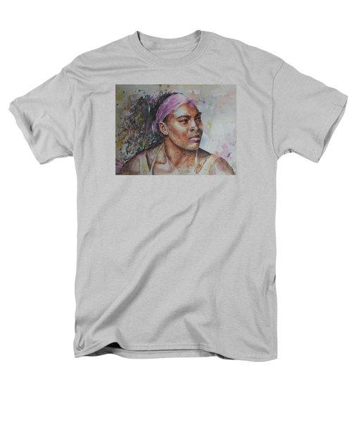 Serena Williams - Portrait 6 Men's T-Shirt  (Regular Fit) by Baresh Kebar - Kibar