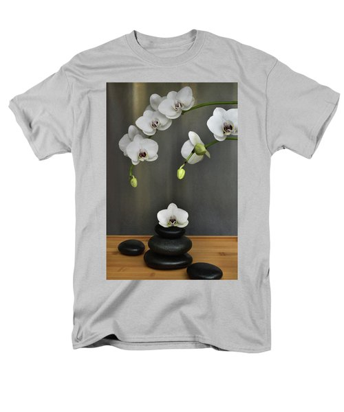 Men's T-Shirt  (Regular Fit) featuring the photograph Serene Orchid by Terence Davis