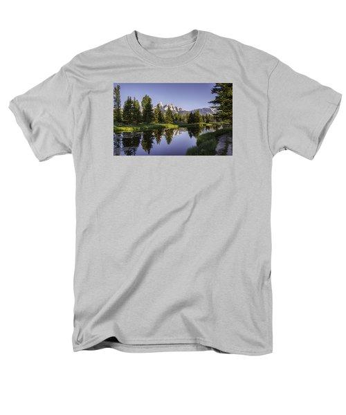 Serene Schwabachers Men's T-Shirt  (Regular Fit) by Mary Angelini