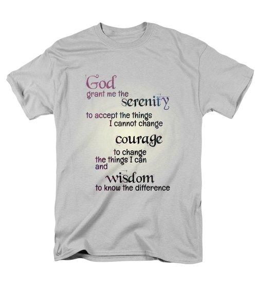 Men's T-Shirt  (Regular Fit) featuring the digital art Serenity Prayer by Jutta Maria Pusl