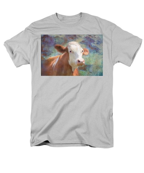 Men's T-Shirt  (Regular Fit) featuring the mixed media Serious Business by Colleen Taylor