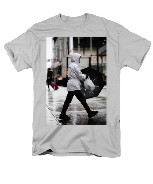 Men's T-Shirt  (Regular Fit) featuring the photograph Sheild Of Rain  by Empty Wall