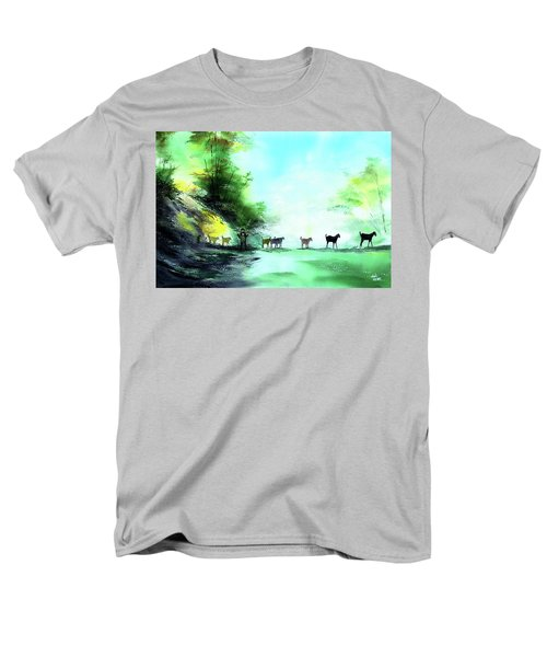 Men's T-Shirt  (Regular Fit) featuring the painting Shepherd by Anil Nene
