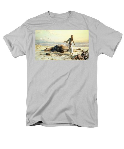 Shipwreck In The Desert Men's T-Shirt  (Regular Fit) by Carl Haag