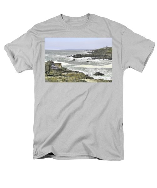 Men's T-Shirt  (Regular Fit) featuring the digital art Shipwrecked by Sharon Batdorf