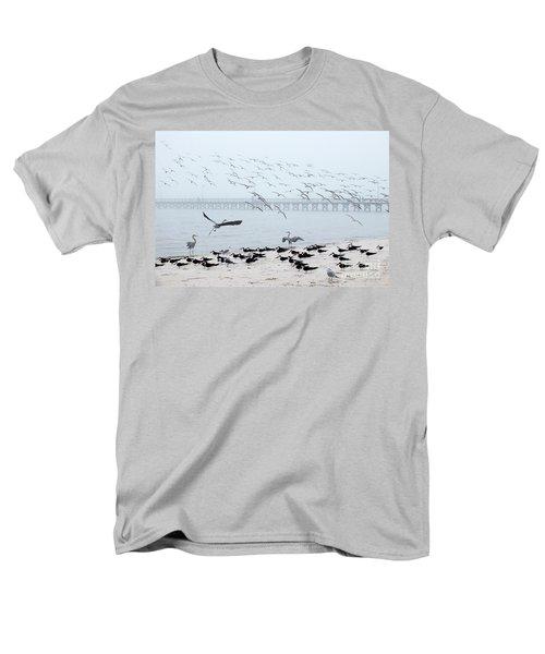 Shorebirds Men's T-Shirt  (Regular Fit) by Scott Cameron