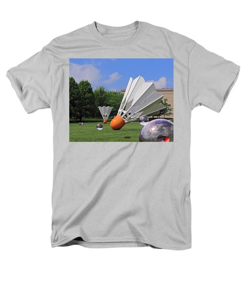 Men's T-Shirt  (Regular Fit) featuring the photograph Shuttlecock Visitors by Christopher McKenzie