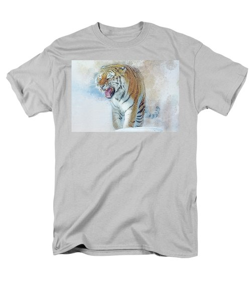 Siberian Tiger In Snow Men's T-Shirt  (Regular Fit) by Brian Tarr