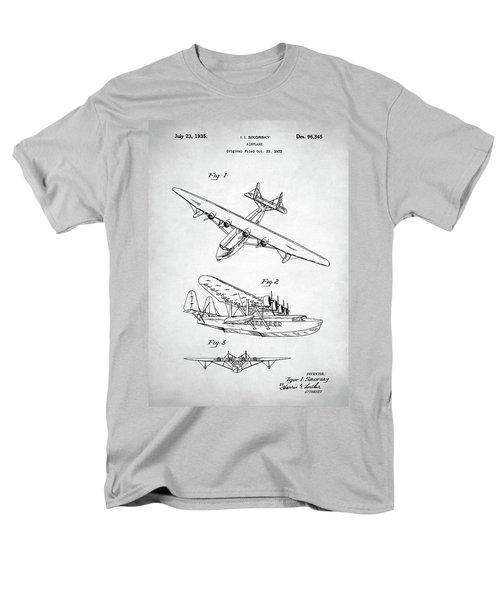 Men's T-Shirt  (Regular Fit) featuring the digital art Sikorsky Seaplane Patent by Taylan Apukovska