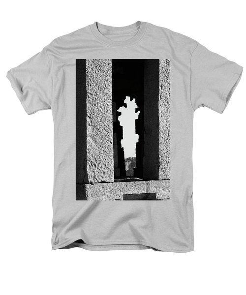 Men's T-Shirt  (Regular Fit) featuring the photograph Silhouette Of Pillars, Hampi, 2017 by Hitendra SINKAR